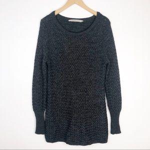 Athleta Charcoal Gray Woven Sweater